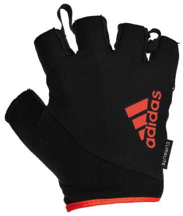 Перчатки для тяжелой атлетики и фитнеса Adidas ADGB-12323RD, красные/черные, L