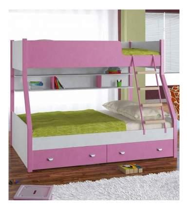 Двухъярусная кровать Golden Kids 3 белая/розовая