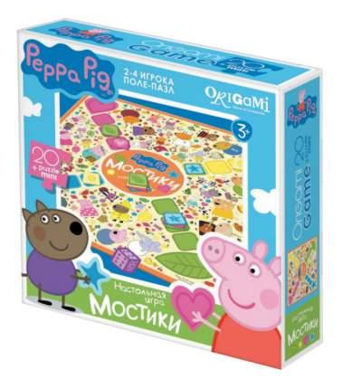 Семейная настольная игра Оригами Peppa Pig.Мостики