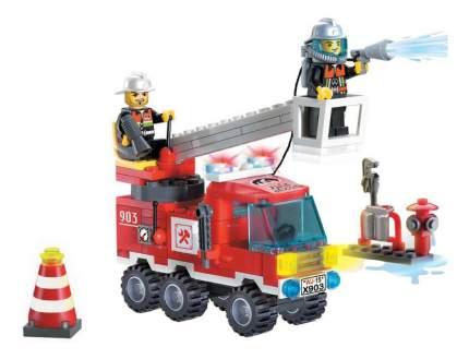 Конструктор пластиковый Brick Single Bridge Fire Engines
