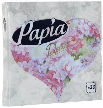 Бумажные салфетки Papia decor 33*33 см 20 штук