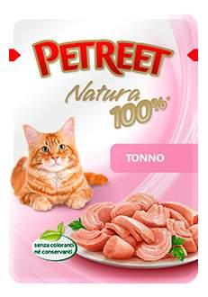 Влажный корм для кошек Petreet Natura, тунец, 85г