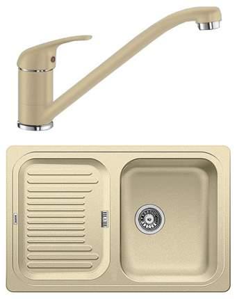 Комплект Blanco мойка CLASSIC 45 S 521312 шампань + смеситель DARAS 517726 шампань