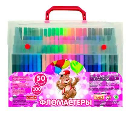 Фломастеры Action! FANCY 50 цветов Чемодан с ручкой