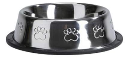 Одинарная миска для собак Beeztees, сталь, резина, серебристый, 0.45 л