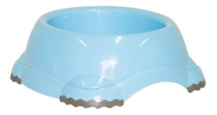 Одинарная миска для кошек MODERNA, пластик, голубой, 0.645 л
