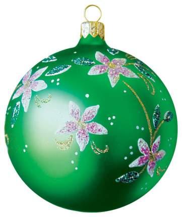Шар на ель Елочка Цветочный 132024 9,5 см 1 шт.