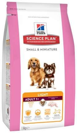 Сухой корм для собак Hill's Science Plan Small & Miniature Light, курица, индейка, 1,4кг