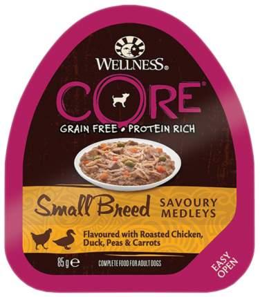 Консервы для собак Wellness CORE, курица и утка, запеченые с горошком и морковью, 85г