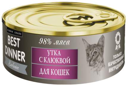 Консервы для кошек Best Dinner Exclusive, утка, 100г