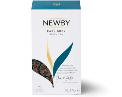 Чай черный Newby earl grey c ароматом бергамота 25 пакетиков