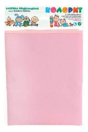 Клеенка без окантовки розовая 0.5х0.7м Колорит
