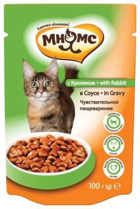 Влажный корм для кошек Мнямс Чувствительное пищеварение, кролик в соусе, 24шт, 100г