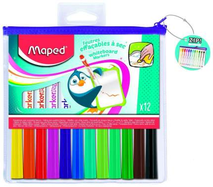 Маркеры для досок Maped Marker Pep's в футляре на молнии 12 цветов
