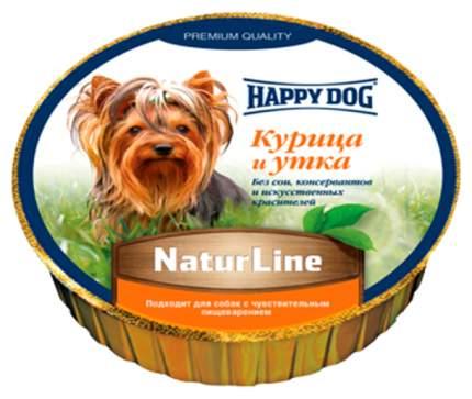 Консервы для собак Happy Dog NaturLine, паштет с курицей и уткой, 85г