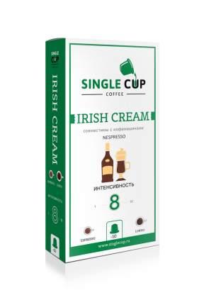 Капсулы Single Cup сoffee irish cream для кофемашин Nespresso 10 капсул