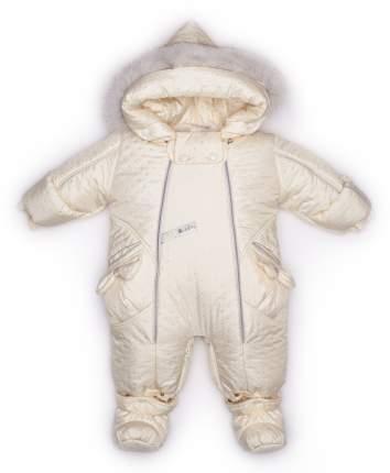 Комбинезон-трансформер конверт Malek-Baby с опушкой бант сливки точка стежка р.56-62 см
