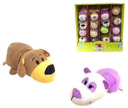 Мягкая игрушка 1Toy Коричневая собака-Фиолетовая панда 12 см