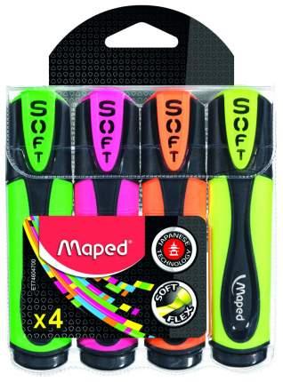 Набор текстовыделителей Maped Fluo Pep'S Ultra Soft 4 цвета