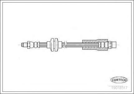 Шланг тормозной Corteco 19018517