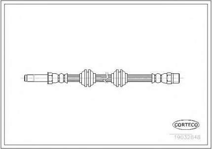 Шланг тормозной Corteco 19032848