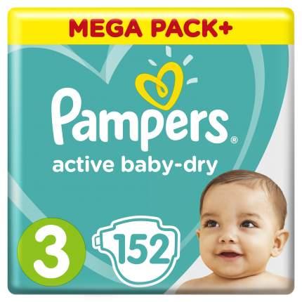 Подгузники PampersActive Baby-Dry Midi (6-10 кг) 152 шт.