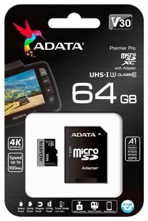 Карта памяти ADATA Micro SDXC Premier Pro 64GB
