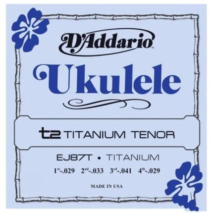 Струны для укулеле тенор D ADDARIO EJ87 T