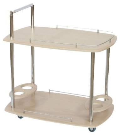Сервировочный столик Калифорния 78x50x75 см, серебристый