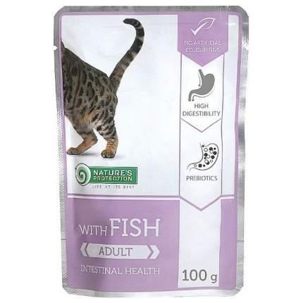 Влажный корм для кошек Nature's Protection, чувствительное пищеварение, рыба, 100 г