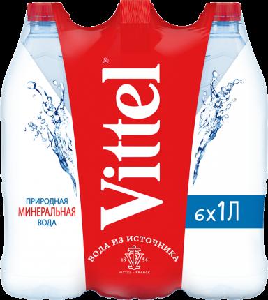 Минеральная вода н/газ  Vittel 1 л пэт по 6 шт