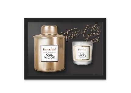 Набор Greenfield Оud Wood листовой чай с ароматической свечой 80 г