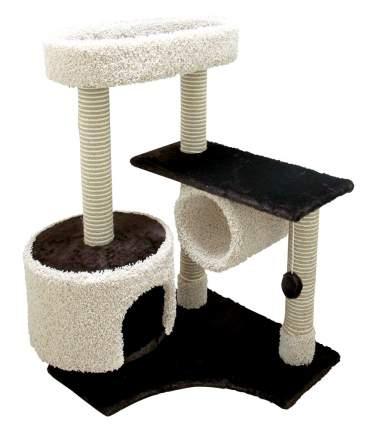 Комлпекс для кошек Зооник, мех, ковролин, темно-коричневый, 88х81х111см