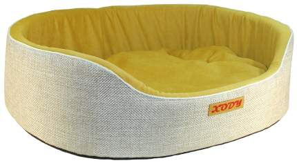 Лежак для собак и кошек Xody Премиум №0, флок, OLIVE, 38х26х15 см