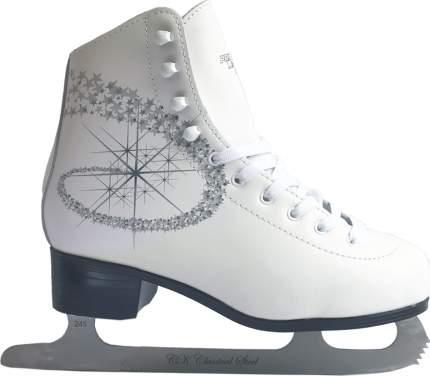 Коньки фигурные Спортивная Коллекция Princess Lux Leather, белый, 42 RU