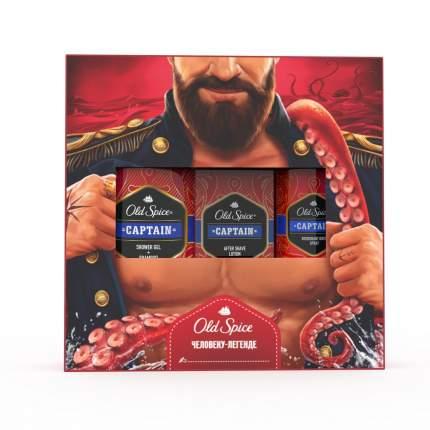 Набор Old Spice Дезодорант + гель д/душа + шампунь 2в1 Captain + лосьон п/бритья Captain