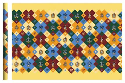 """Упаковочная бумага """"Harry Potter"""", 70х100 см, 2 шт в рулоне (желтая с гербами)"""