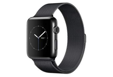 Смарт-часы Apple Watch Series 2 42mm Stainless Steel/Black Space (MNQ12RU/A)