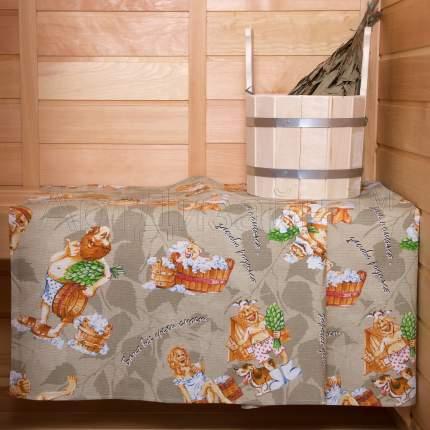 Банное полотенце АРТ ДИЗАЙН С лёгким паром разноцветный 80x150 см (1 шт.)