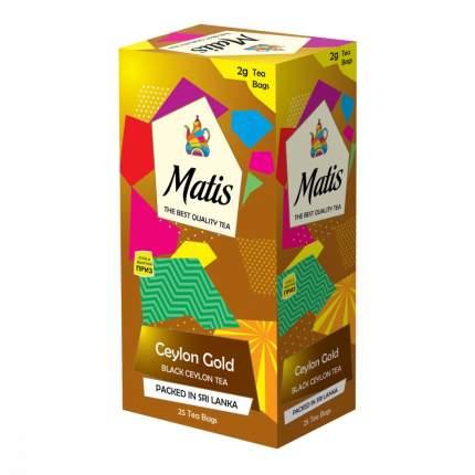 Чай Matis Золото цейлона черный 25 пакетиков