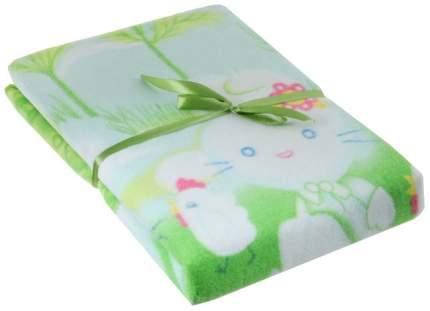 Одеяло байковое Baby Nice Зайка на луне зеленое