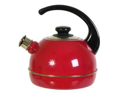 Чайник эмалированный 3,5л бордо