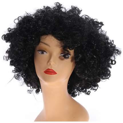 Карнавальный парик Объём, обхват головы 56-58, 120 г, цвет чёрный Sima-Land