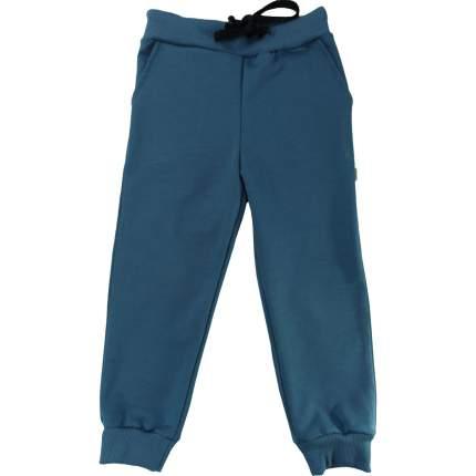 Штаны Папитто Индиго футер с карманами, на манжетах, размер 104