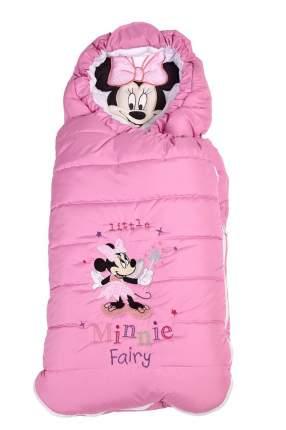 Конверт утепленный Polini kids Disney baby Минни Маус Фея, розовый