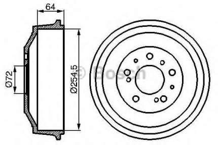 Барабан тормозной Bosch 0986477031
