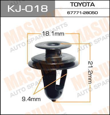 Клипса автомобильная Masuma KJ018