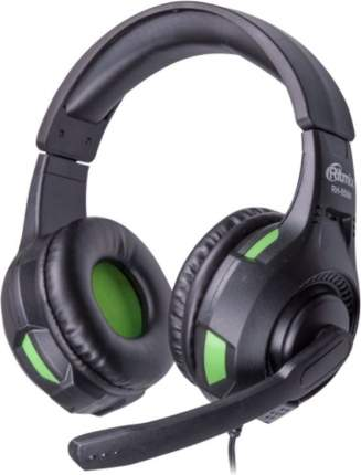 Игровые наушники Ritmix RH RH-559M Green/Black