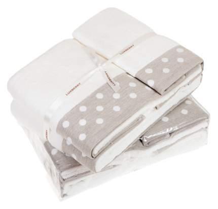 Полотенце для лица Luxberry бежевый, белый