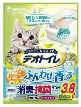 Впитывающий наполнитель для кошек UNICHARM силикагелевый, травы, 2 кг, 3.8 л